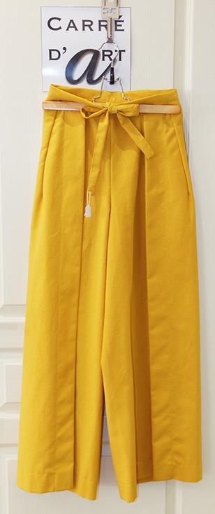 pantalon-jaune-en-coton-cree-par-marie-ancelin