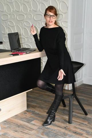 Robe noire modèle manon